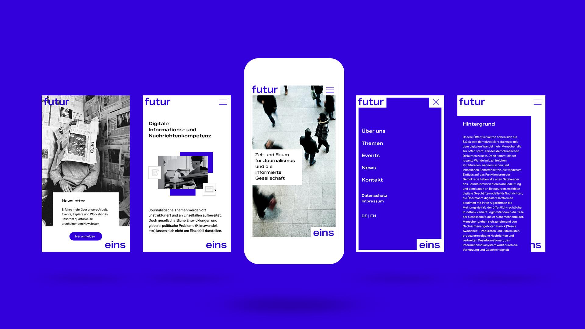 Design der Webseite für mobile Endgeräte