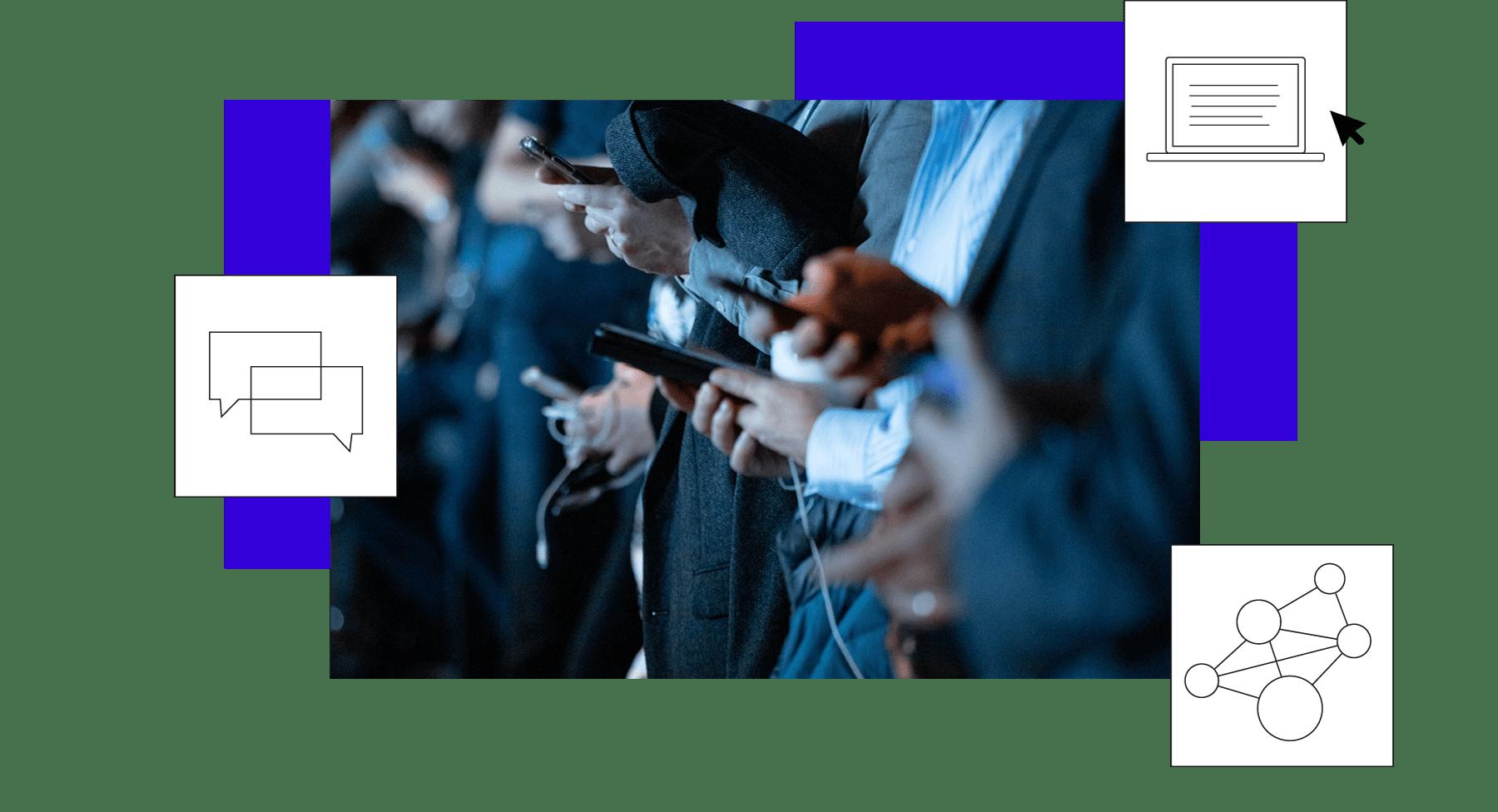 Bild von Menschen mit Smartphones